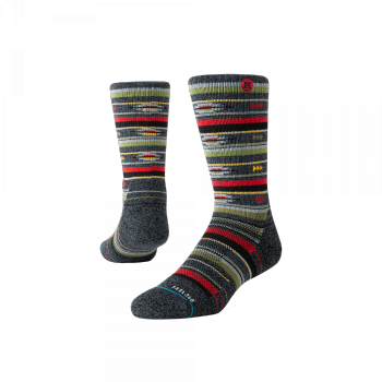Stance Socks - Smoke Shack Hike (grau / rot)