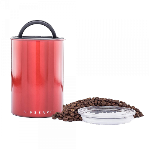 Planetary Design - Airscape Edelstahl Kaffeedose - medium (rot)