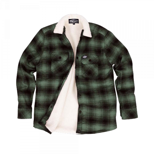 Loose Riders - Sherpa Green Flannel