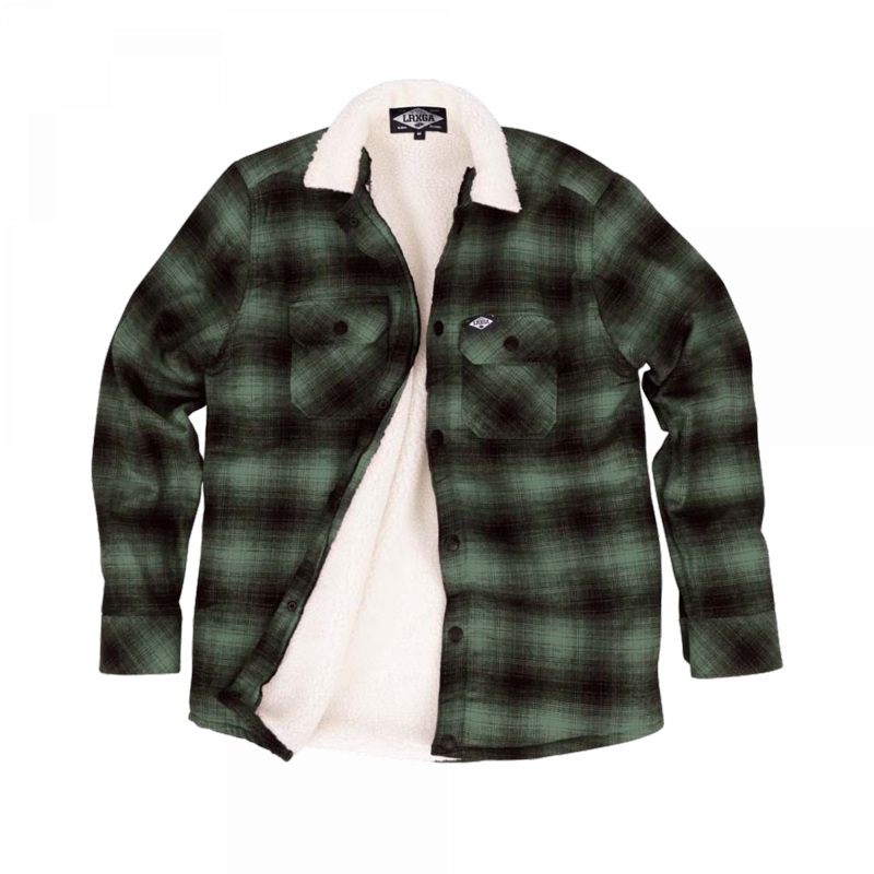 Loose Riders Sherpa Green Flannel