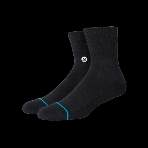 Stance Socks - Icon Quarter (schwarz)