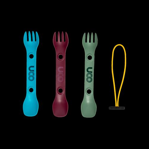 UCO Gear - Spork 'Mini' 3 Stk grün, violett, blau
