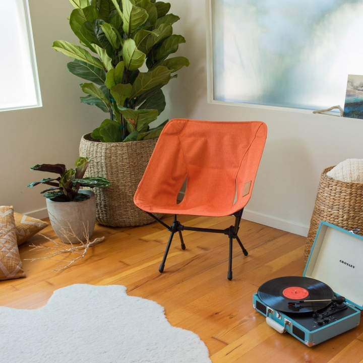 Stuhl, chair, plattenspieler, Pflanze