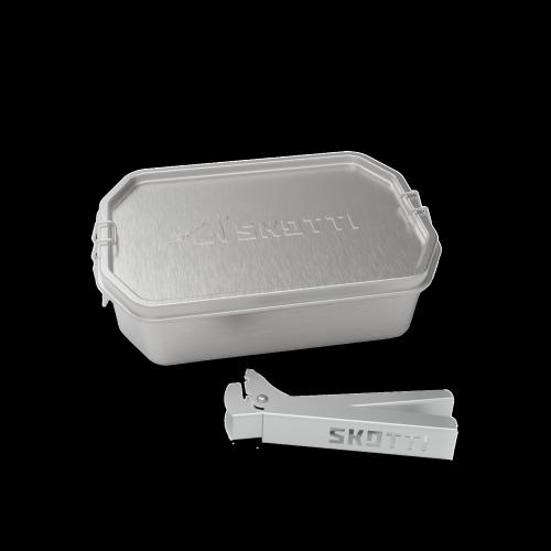 Skotti - Boks 1 Liter Edelstahlbox inkl. Griffzange