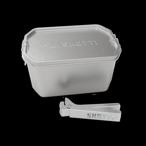 Skotti - Boks 2,5 Liter Edelstahlbox inkl. Griffzange