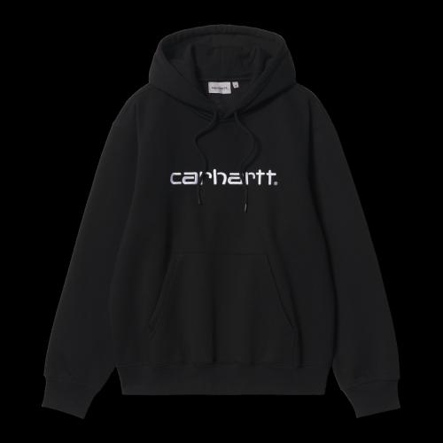 Carhartt WIP - Hooded Sweatshirt (schwarz / weiß)