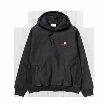 Carhartt WIP - Hooded American Script Sweatshirt (schwarz)