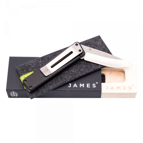 The James Brand - THE CHAPTER - Black + Stainless Taschenmesser