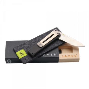 The James Brand - THE CHAPTER - Black + Stainless - Serrated Taschenmesser