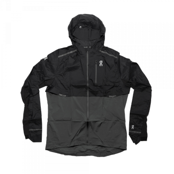 On - Weather Jacket (schwarz / grau)