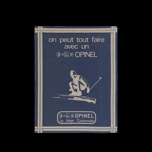Opinel - Küchentuch, blau, Jacquardmuster