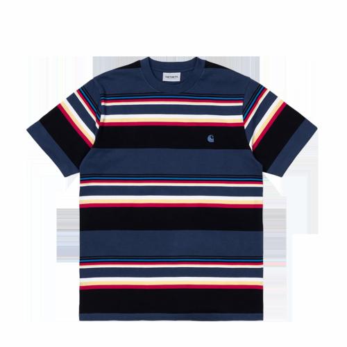 Carhartt WIP - S/S Sunder Stripe T-Shirt (blau)