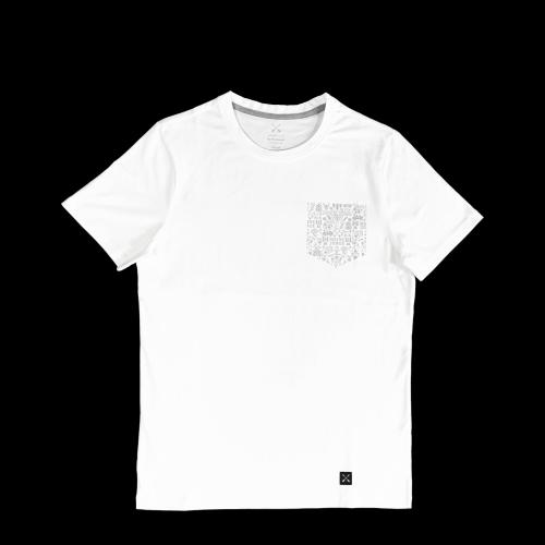 MEINE JUNGS - x Heimplanet Pocket T-Shirt (weiß)
