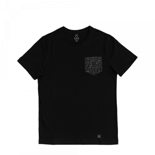 MEINE JUNGS - x Heimplanet Pocket T-Shirt (schwarz)