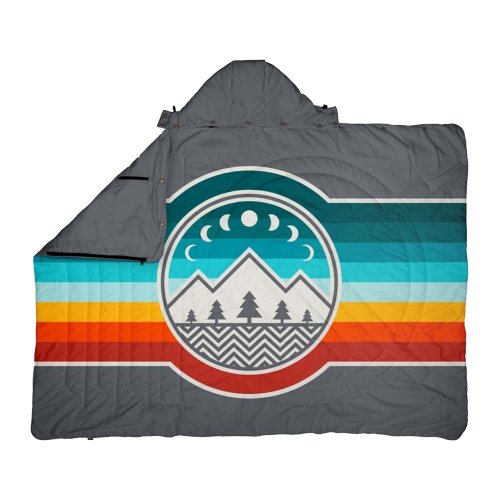 Voited - Travel Pillow Blanket CampVibe / Shade Grey