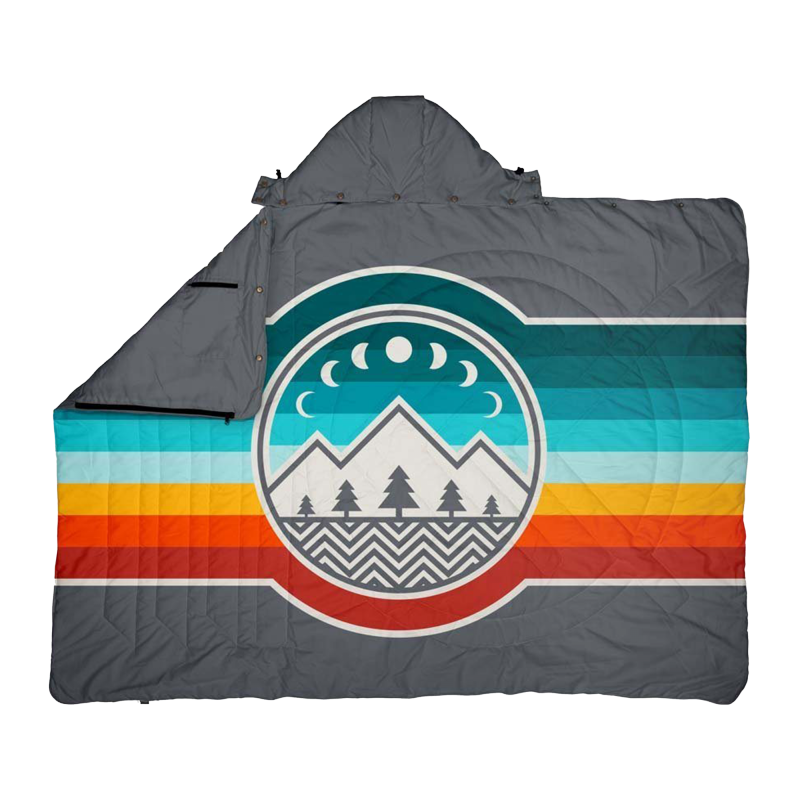 Voited Travel Pillow Blanket CampVibe / Shade Grey