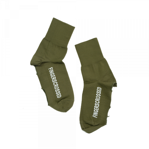 FINGERSCROSSED - OVERSOCKS OLIVE