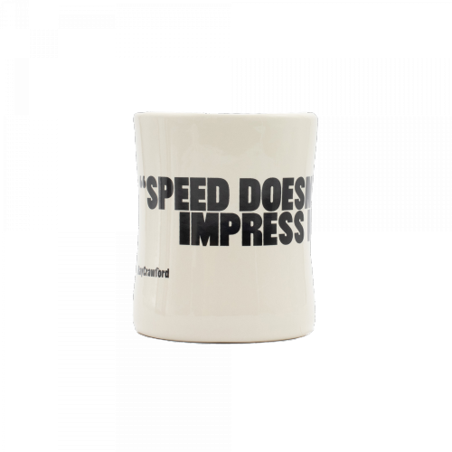 "RBook - Classic Coffee Mug 2 # ""Speed doesn´t impress me"""