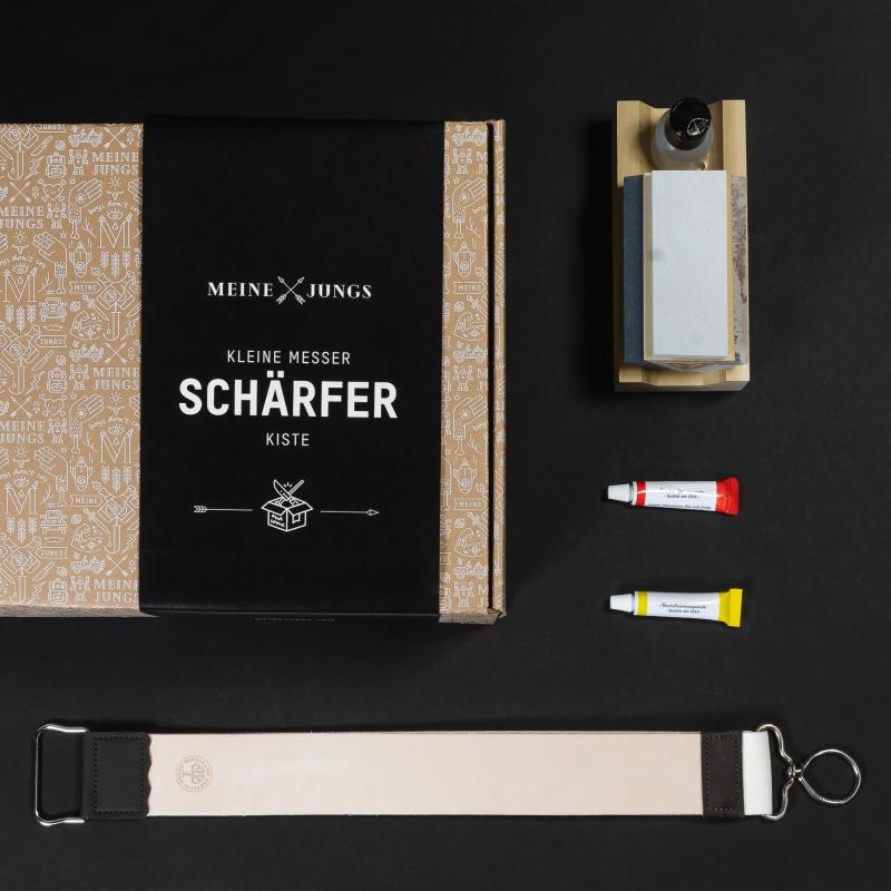 MEINE JUNGS Kleine Messer-Schärf-Kiste