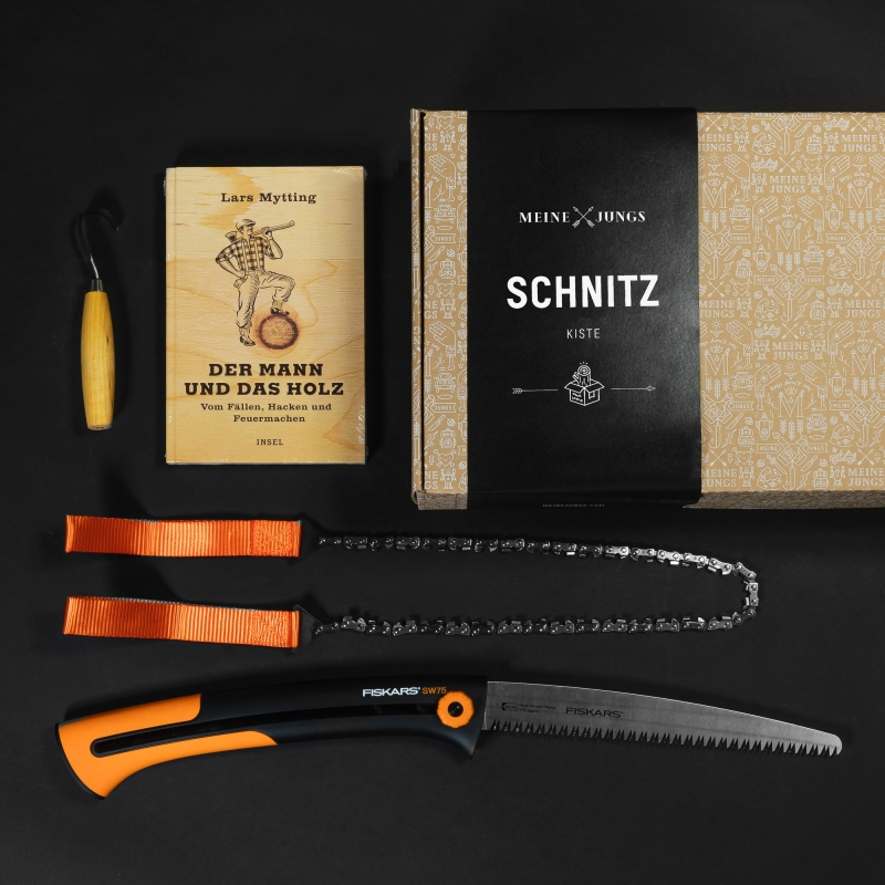 MEINE JUNGS Schnitz - Kiste