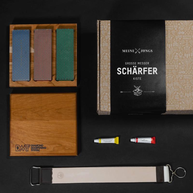 MEINE JUNGS Große Messer-Schärf-Kiste