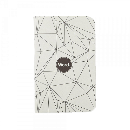 Word. Notebooks - Grey Polygon 3-Pack